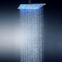 Factory drop-ship 10 Inch Chromed Brass Square LED Rainfall Shower Head - $99.70