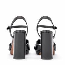 MICHAEL Michael Kors Alexia Platform Block Heel Sandals, Multi Sizes Black Leath image 6