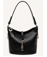 New Italian Leather Check  Embossed Hobo Handbag Shoulder Bag Purse 2202 - $134.95