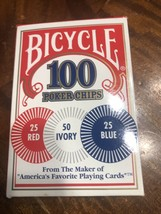 Bicycle Casino Style Interlocking Easy Stack Poker Chips 100 Count Chips - $9.20
