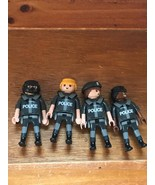 Lot of 4 Playmobil Police Officers Plastic Figurines – 3 inches high x 1... - $8.59