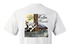 T-shirt Shirt Hound Dog Coon Hunter Raccoon Hunting Walker In The Water - $10.99+