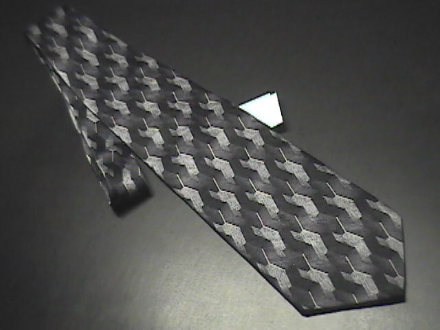 Tie hagger extra long black  white   greys new with retail tag 01