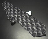 Tie hagger extra long black  white   greys new with retail tag 01 thumb155 crop