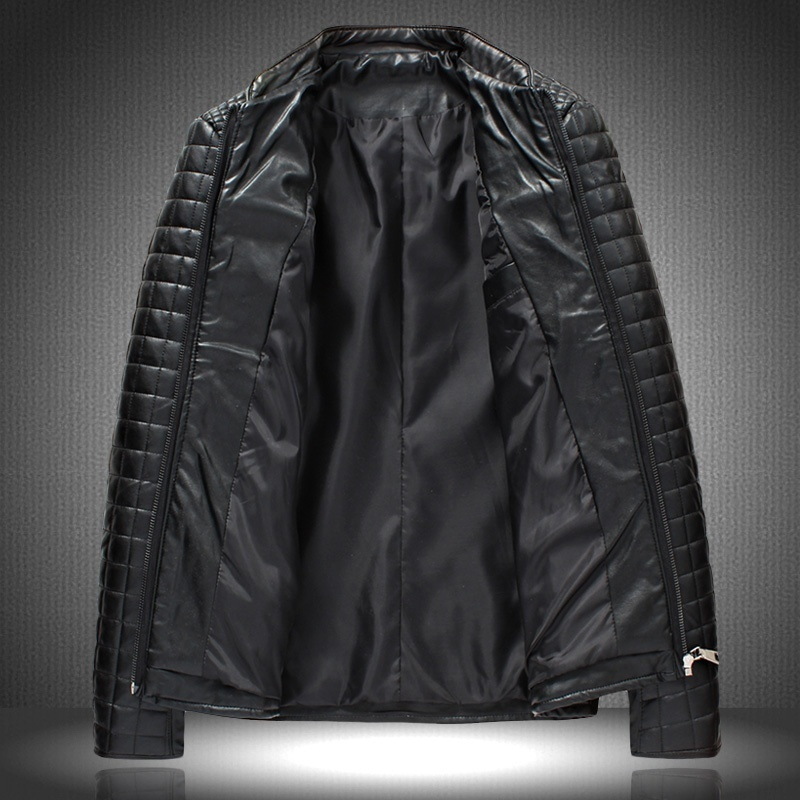 (XS-XXXL) big overweight men's fashion motorcycle leather