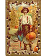 A Happy Thanksgiving vintage Post Card - $6.00