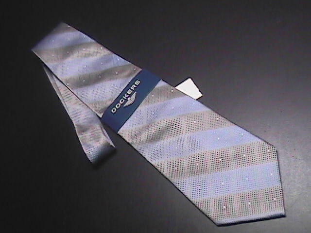 Tie dockers dupont teflon treated blues new with collar   tags 01