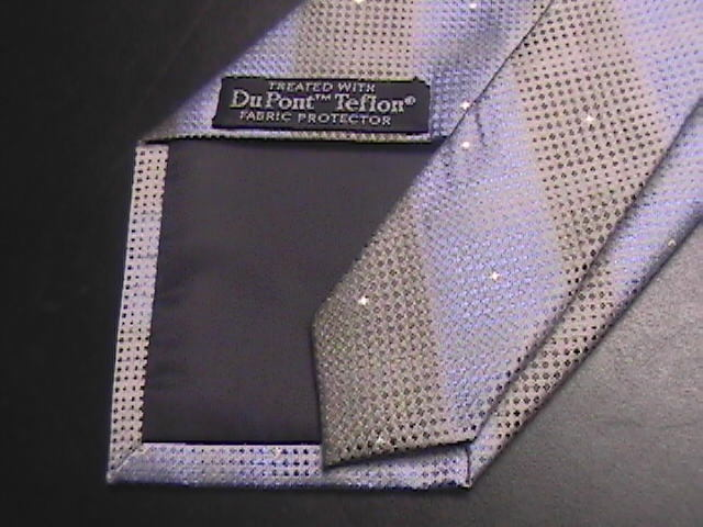 Dockers Neck Tie Blue Brown Stripes Unused with Tags Teflon Fabric Protection