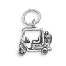 Solid Sterling Silver Golf Cart Charm - $26.99