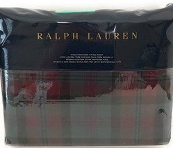 RALPH LAUREN BOHEMIAN MUSE ARDMORE PLAID KING FITTED SHEET-NEW - $98.50