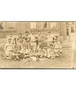 1908 baseball postcard real photo town team original ohio vintage bats gloves - $49.99
