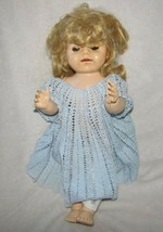Vintage walking doll 50 cm high Made in England moving head and eyes wal... - $188.09