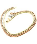 Gold Bracelet Yellow Rose Or White 750 18K, 18.5 CM, Balls Faceted 1.5 MM - $299.27