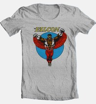 The Falcon T-shirt Fee Shipping vintage style retro comics superhero grey tee image 1