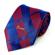 Atlanta Braves Plaid Men's Neck Tie MLB Baseball Team Sports Fan Blue Ne... - $31.68