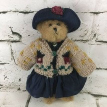 "Boyds Bears 8"" Jointed Teddy Plush Fully Dressed Sweater Dress Hat Collectible  - $14.84"