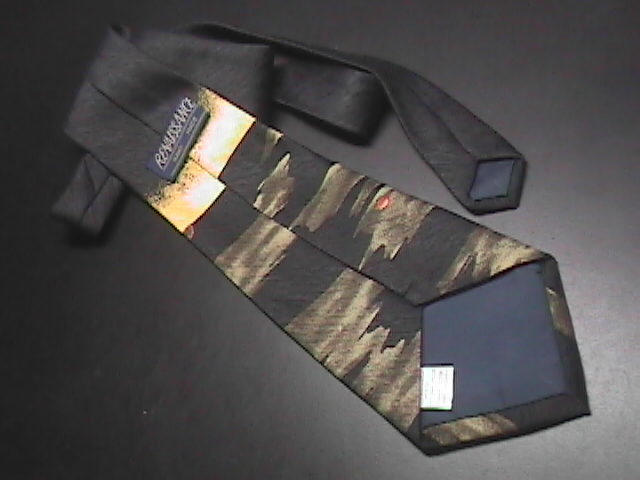 Renaissance Hand Made Dress Neck Tie Pride of Cartoon Lions on Staggered Levels