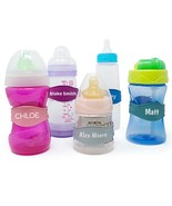 Baby Bottle Bands - 3 Personalized Bottle Labels - Sippy Cup Name Labels Daycare - $14.99