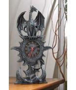 Mantel Clock mythical winged dragon w roman numerals  - $21.89