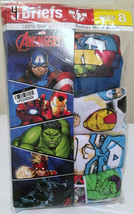 Boys Size 8 Marvel Avengers Briefs 4 Pack Cotton Underwear - $11.87