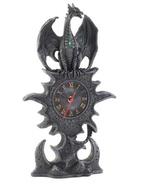 BLACK DRAGON MANTEL CLOCK - $22.39