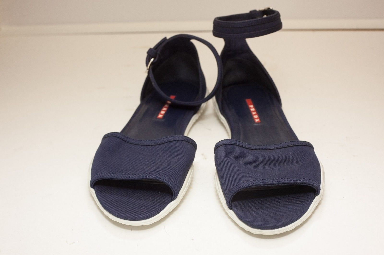 Prada US 9.5 to 10 Blue Sandals Women's EUR 41