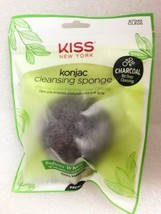 KISS NEW YORK KONJAC CLEANSING SPONGE ACNE FIGHTING DEEP CLEASE CHARCOAL - $2.86