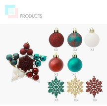 Snowflake Baubles Balls For Christmas Tree Wedding Hanging Ornament Deco... - $26.99