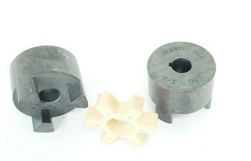 LOT OF 2 WOODS L100 3/4'' JAW COUPLINGS