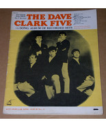 The Dave Clark Five Song Album Of Recorded Hits Songbook Vintage 1964 Ke... - $119.99