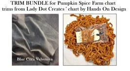 TRIM/FINISHING BUNDLE Lady Dot Creates for Pumpkin Spice Farm Hands On D... - $9.50
