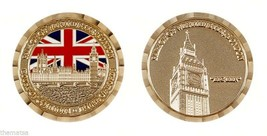 "PALACE OF WESTMINSTER LONDON BIG BEN HOUSE OF COMMONS LORDS 1.75"" CHALLE... - $16.24"