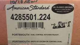 American Standard Portsmouth Kitchen Faucet Oil Rubbed Bronze #4285501.224 NEW! - $164.50