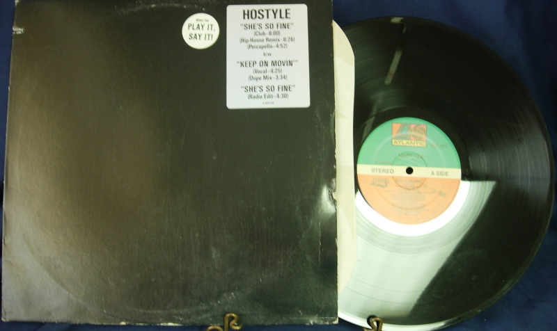 Hostyle - She's So Fine / Keep On Movin' -  Atlantic Records DMD 1371