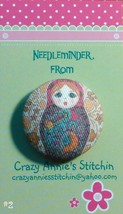 Matryoshka #2 Needleminder fabric cross stitch needle accessory - $7.00
