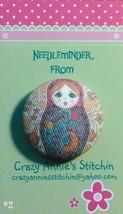 Matryoshka #2 Needleminder fabric cross stitch needle accessory - $7.00