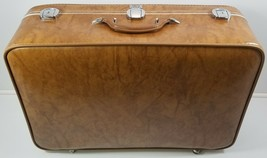 "MI) Amelia Earhart Tan Luggage Suitcase Travel Clothing Carrier 27"" - $98.99"