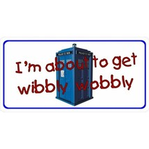 i'm about to get wibbly wobbly tardis dr who tv show license plate made ... - $27.07