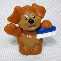 Fisher Price Little People BROWN DOG Car Wash Figure with Brush - $3.50