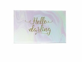 Celebrate Shop Be Jeweled or Hello Darling Glass Girls Jewelry Box 8x5x3... - $33.17 CAD