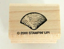 Stampin Up Stipple Shells Mounted Rubber Stamp Tiny Clam Shell Beach Loo... - $3.00