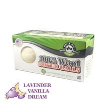Maple Hill Dryer Balls set of 2 Lavender Vanilla Dream scent 100% Domestic Wool,