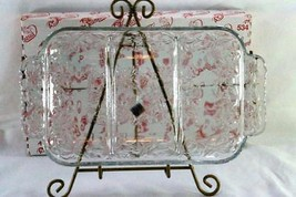 "Princess House Fantasia 3 Section Dish In Box 12"" - $9.00"
