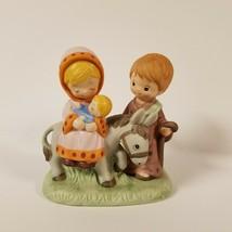HOMCO Joseph Mary Jesus Donkey Figurine 5608 - $11.99