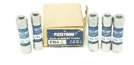BOX OF 5 NEW COOPER BUSSMANN FNA 3/10 FUSETRON DUAL-ELEMENT FUSES