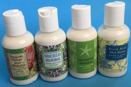 NEW LOT 4 TRAVEL SIZE 2OZ LOTIONS SAMPLER MINERAL SHEA BUTTER GREENWICH ... - $8.90