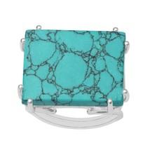 Split Shank Wired Prong Blue Copper Turquoise Handmade Ring Fine Sterlin... - £14.32 GBP+