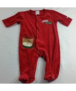 My First Christmas 3-6 Months Footed Sleeper Small Wonders Unisex Velour - $5.00