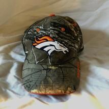NFL Team Apparel Denver Broncos Football Logo Full Camo O/S Strapback Sport Hat - $29.69