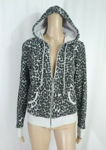 Rodarte for Target Gray Black Leopard Print French Terry Hoodie Track Ja... - $14.03